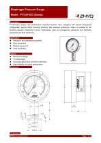 ZHYQ PT124Y-623 diaphragm pressure gauge for homogenizer machine