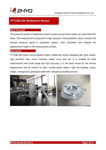 ZHYQ Settlement Leveling Sensor PT124B-226 for the settlement of the building