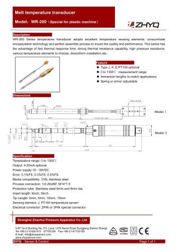 ZHYQ WR-200 temperature transducer for Plastic Extruder Machine