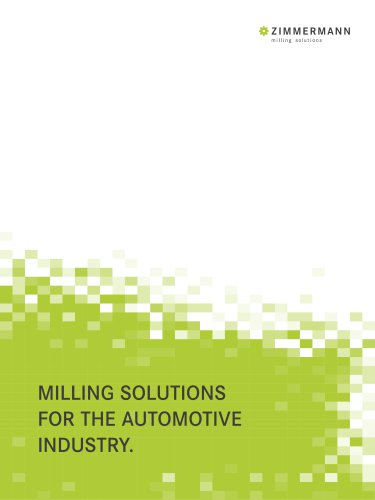 Zimmermann brochure for the Automotive Industry