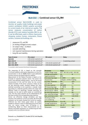 NLII-C02 Combined sensor CO/RH