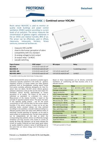 NLII-iVOC / Combined sensor VOC/RH