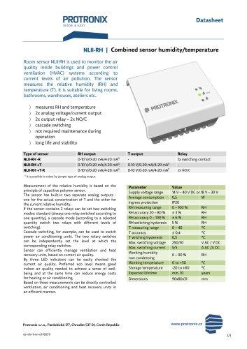NLII-RH / Combined sensor humidity/temperature