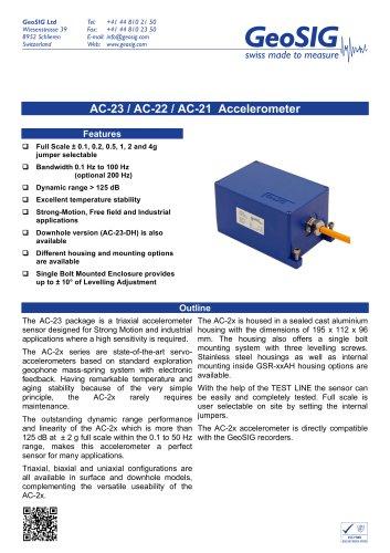 AC-2x Accelerometer