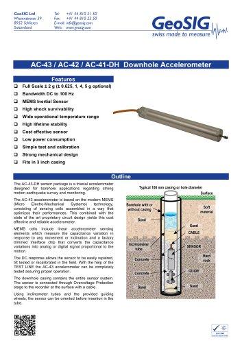 AC - 43 / AC - 42 / AC - 41 - DH  Downhole Accelerometer