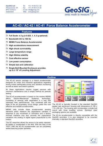 AC-4x Accelerometer