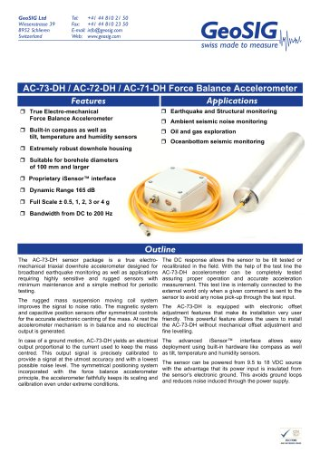 AC-7x-DH Accelerometer