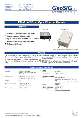 ETH-FLAN Ethernet Module