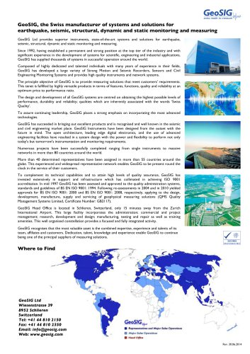 GeoSIG Company Brochure
