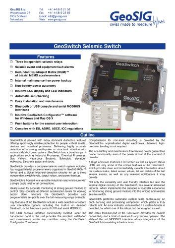 GeoSwitch - Seismic Switch