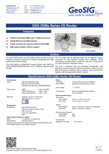 GXX-3GMX Series 3G Router
