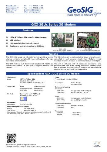 GXX-3GUX Series 3G Modem