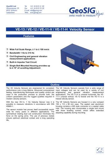 VE-1x Velocity Sensor