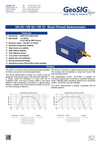 VE-5x Seismometer