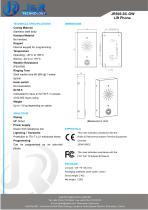 Ascenseur Téléphone JR505-SC - 2