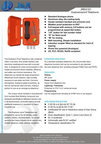 Explosionsgeschütztes IECEX-Minen-Telefon JREX-01