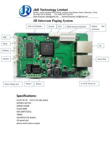 JR Intercom and Paging system