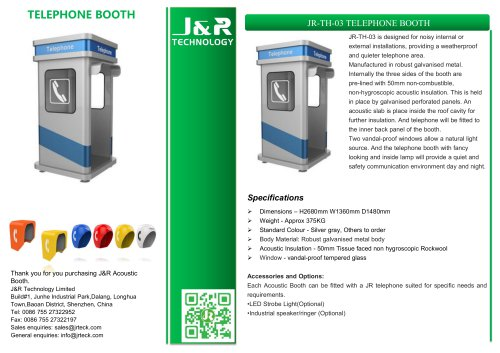 JR-TH-03 TELEPHONE BOOTH