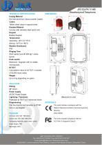 Loud Speaker Mining Telephone With Beacon JR103-FK-HB - 2