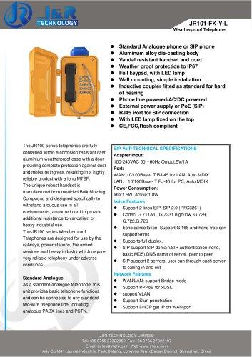 Notruf-Telefon JR101-FK-L