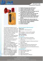 Téléphone de radiomessagerie résistant aux intempéries JR103-FK-HB - 1