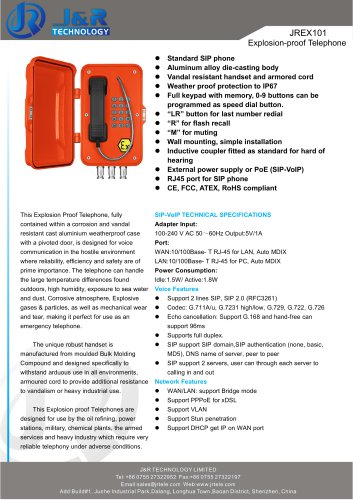 VoIP Explosion Proof Industrial Telephone