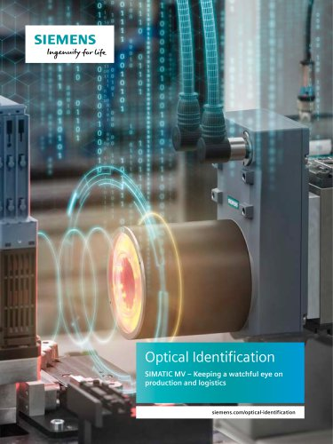 Optical Identification SIMATIC MV – Keeping a watchful eye on production and logistics