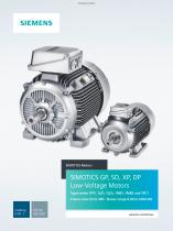 SIMOTICS GP, SD, XP, DP Low-Voltage Motors - 1