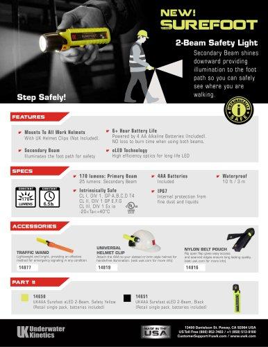 new! Surefoot 2-Beam Safety Light
