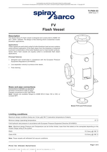 Flash Vessel