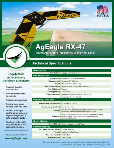 AgEagle RX-47 UAV