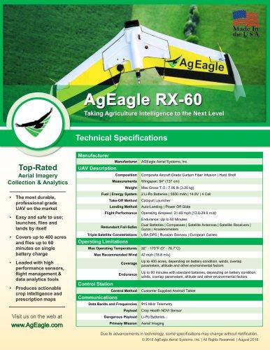 AgEagle RX-60 UAV