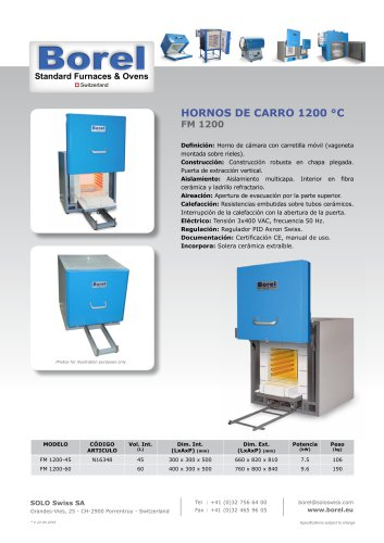 Car-Hearth Furnaces 1200 °C - FM 1200