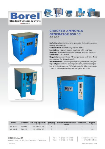 Cracked Ammonia Generators 950°C - GE 950