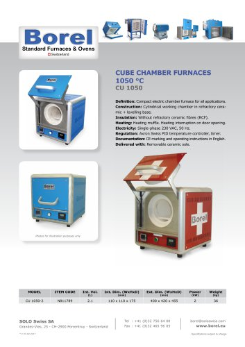 Cube Chamber Furnace 1050 °C