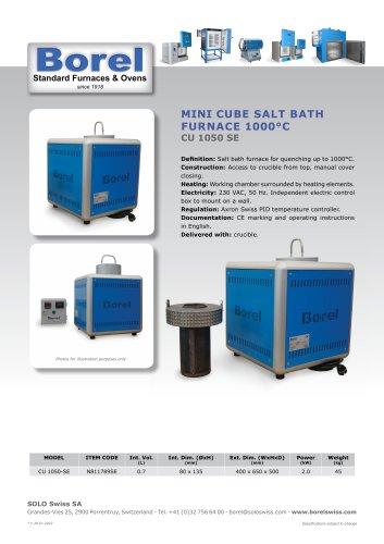 Cube Salt Bath Furnace 1050°C - CU 1050 SE