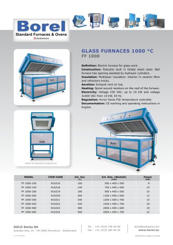 Glass Furnaces 1000°C - FF1000