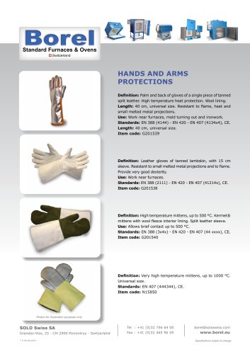 Hands and Arms Protections