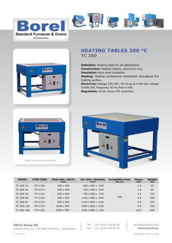 Heating Tables 200°C - TC 200