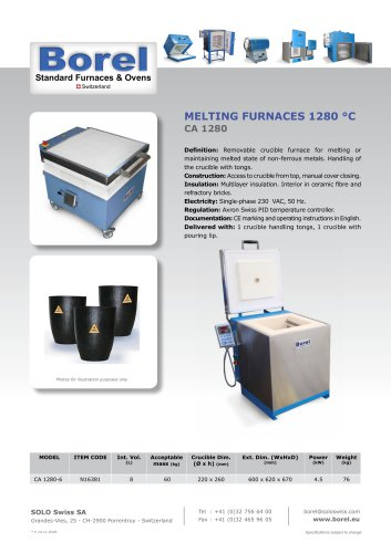 Melting Furnaces 1280°C - CA 1280