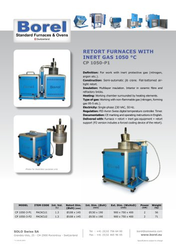 Multifunction Cube Retort Furnaces, 1050 °C - CP 1050 - Work with or without protective gas