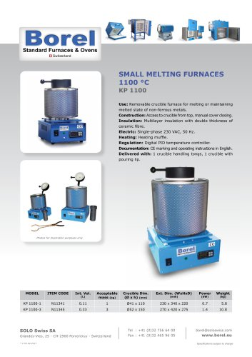 Small Melting Furnace 1100 °C - KP 1100