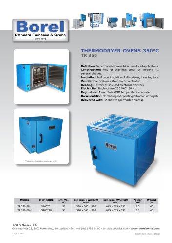 Thermodryer Ovens 350°C - TR350