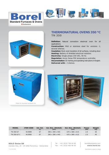 Thermonatural Ovens 350 °C - TN350