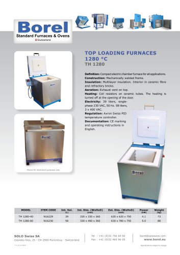 Top Loading Furnaces 1280 °C - TH 1280