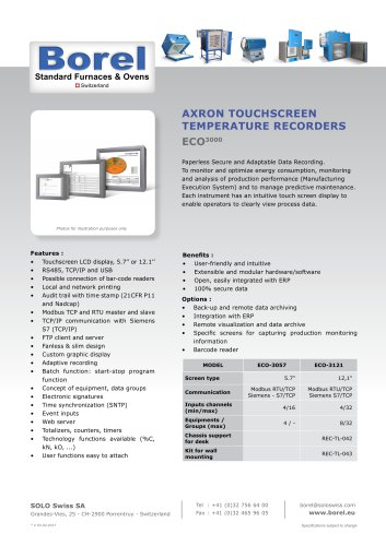 Touchscreen temperature recorder ECO 3000