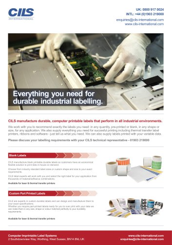CILS Industrial Product Guide