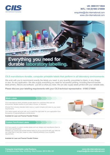 CILS Laboratory Product Guide