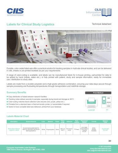 CLINICAL TRIAL LOGISTICS LABEL