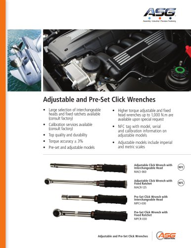 Adjustable & Pre-Set Click Wrenches